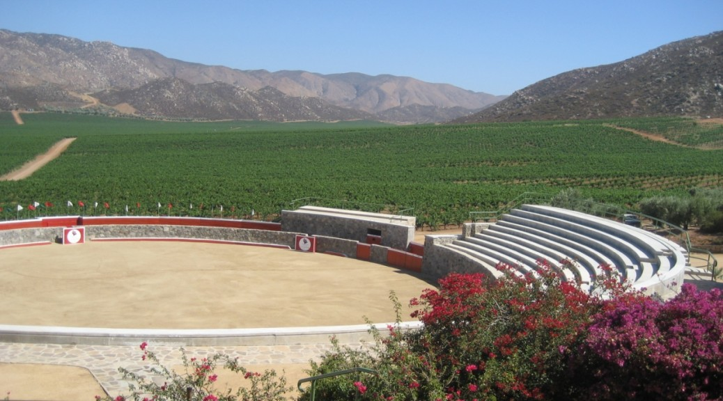 L.A. Cetto winery, vineyards and bullfighting ring