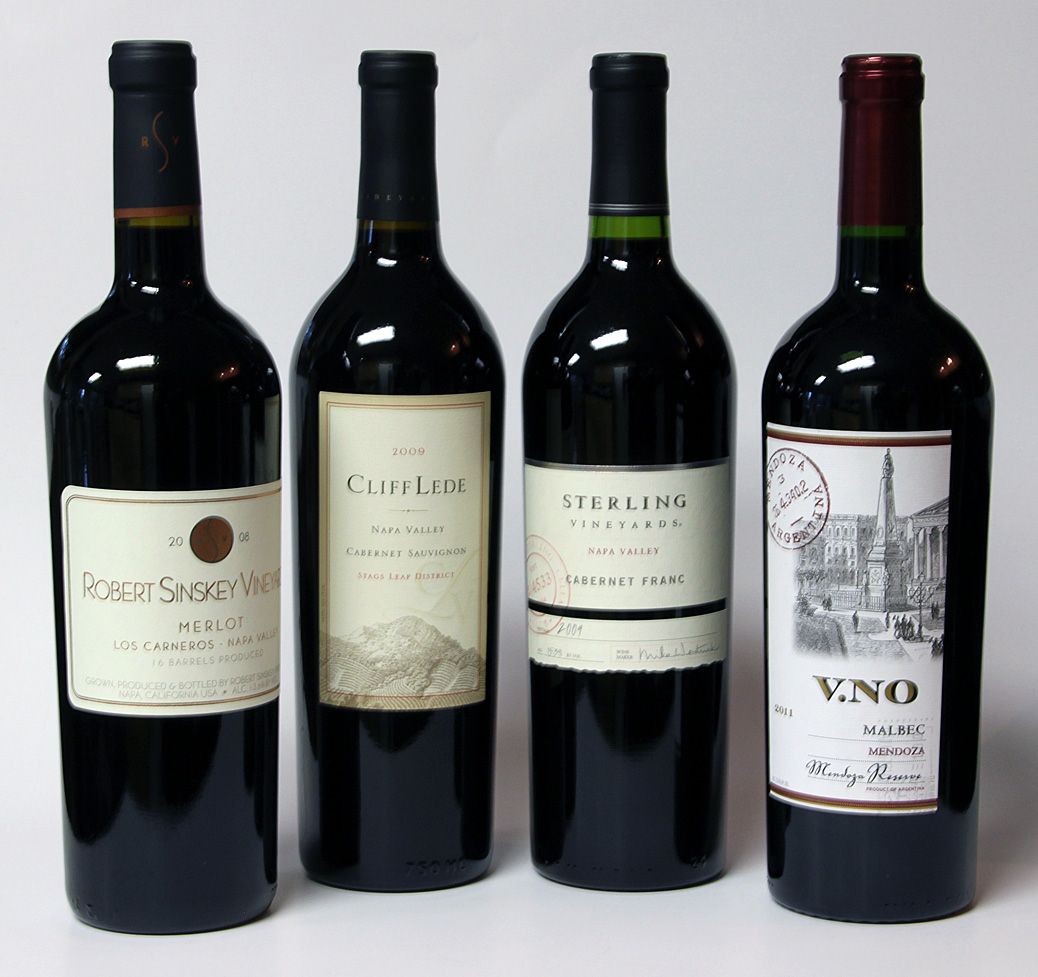 Four Bordeaux wines